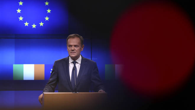 Donald Tusk making his controversial speech