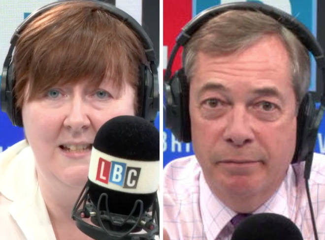 Shelagh Fogarty and Nigel Farage clashed on Wednesday