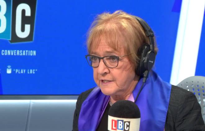 Margaret Hodge in the LBC studio