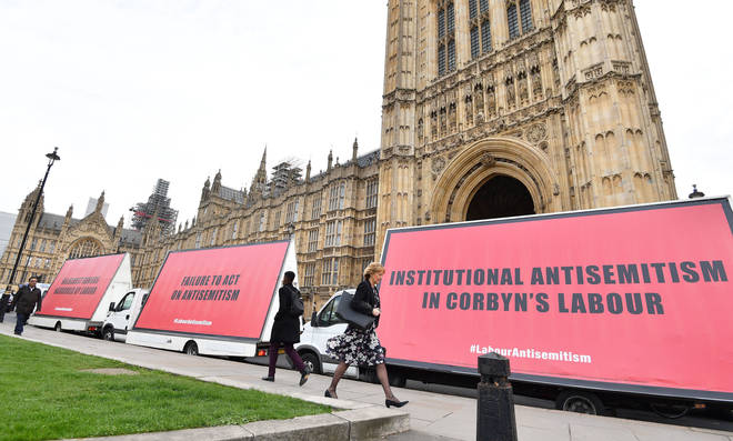 A Three Billboards stunt protesting against anti-Semitism in the Labour Party