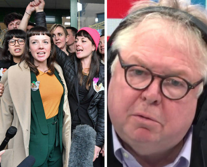 Nick Ferrari slammed a human rights lawyer who was defending the group