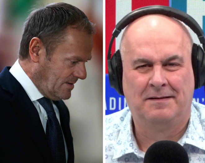 An LBC caller says he wants Donald Tusk reported for a hate crime