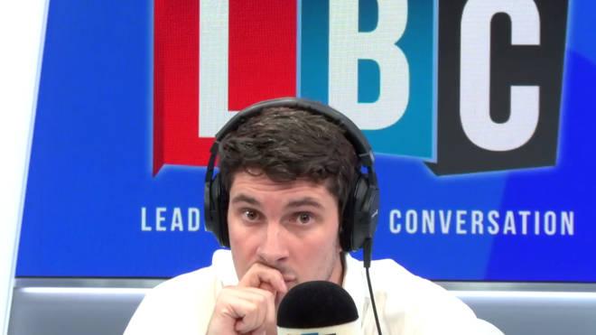Tom Swarbrick in the LBC studio