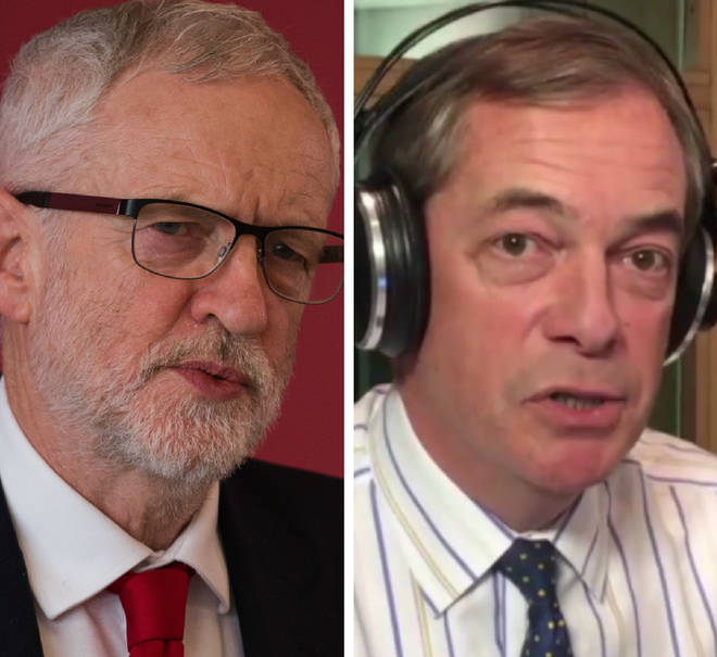 Nigel Farage gave his take on Jeremy Corbyn and Brexit live from Strasbourg