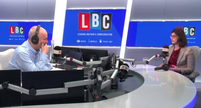 Iain Dale and Layla Moran in the LBC studio