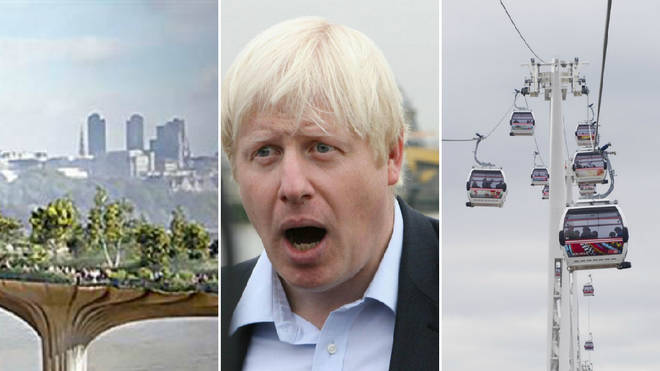 Boris Johnson's Cable Car and Garden Bridge have been far from successful