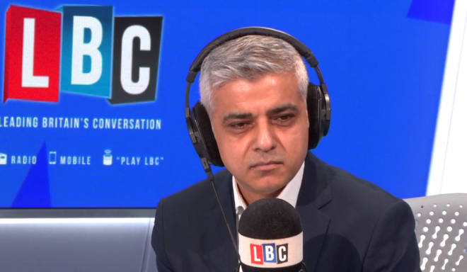 Sadiq Khan in the LBC studio
