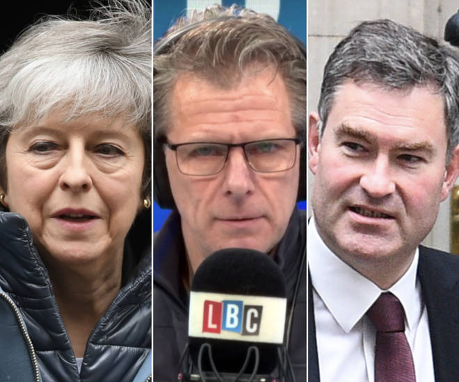 Theresa May, Andrew Castle, and David Gauke