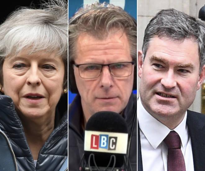 Theresa May, Andrew Castle, and David Gauke