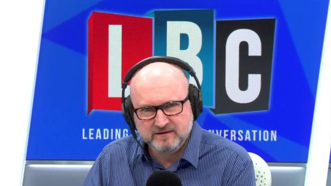 Clive Bull in the LBC studio