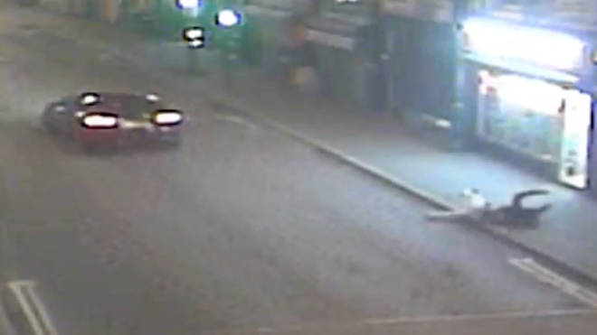 Police released footage of the hit-and-run incident in Derby