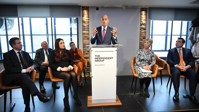 Chuka Umunna speaking at the press conference