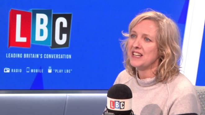 Guardian journalist Carole Cadwalladr in the LBC studio