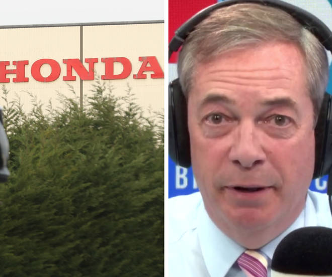 An LBC listener wanted Nigel Farage to apologise amid expected Honda closure