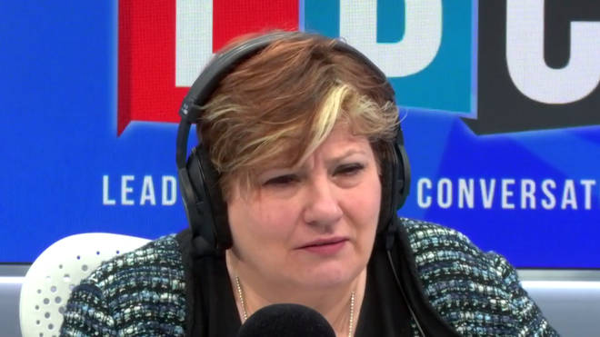 Emily Thornberry in the LBC studio