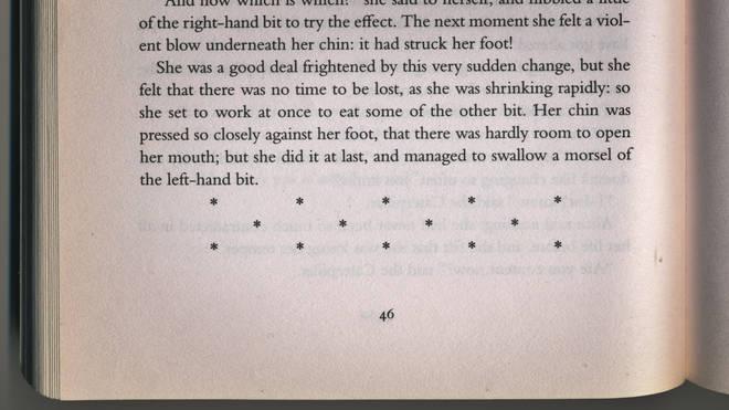 Section break in a book