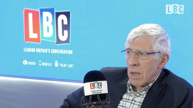 Jack Straw in the LBC studio