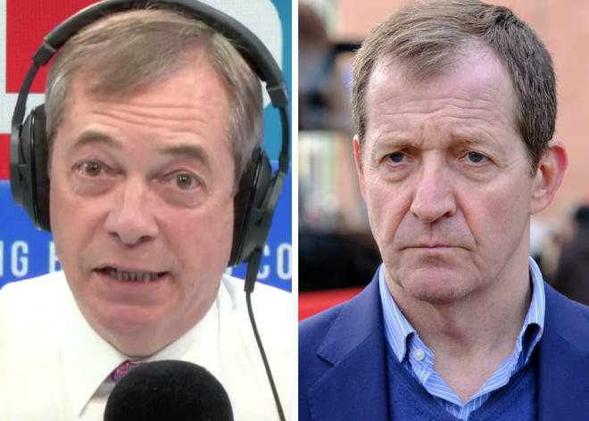 "Nigel Farage accused Alastair Campbell of ""not telling the truth"""