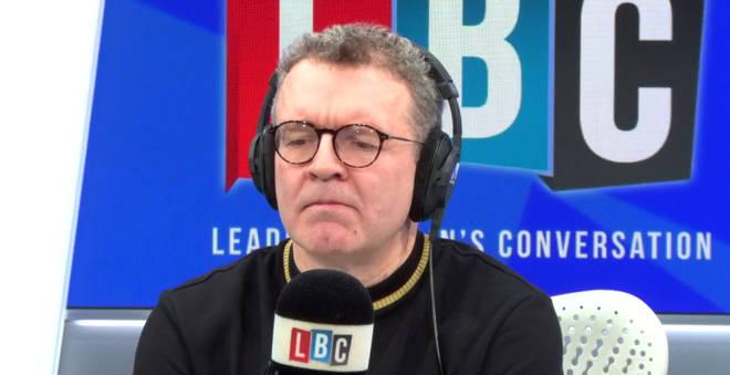 Tom Watson listens to caller John