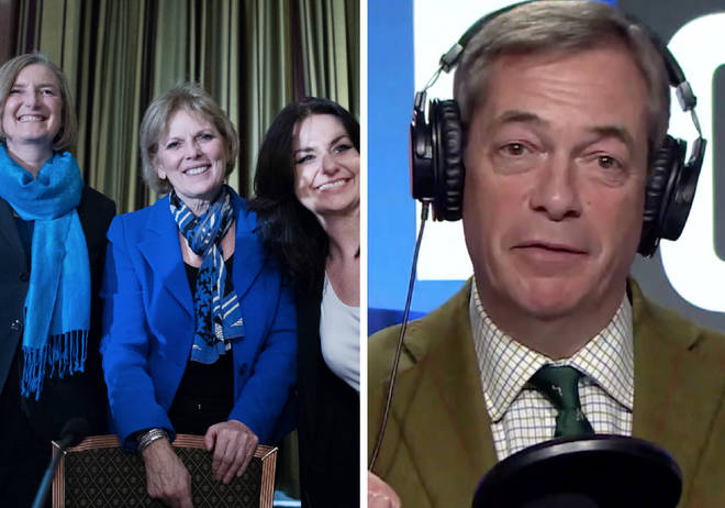 Nigel Farage slammed the Tory trio on his LBC show