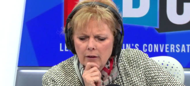 Anna Soubry listening to Neil as he raged