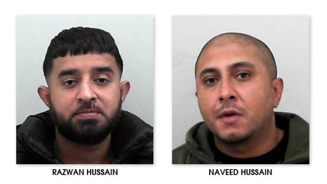 Razwan and Naveed Hussain have both been jailed