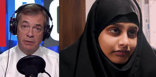 Shamima Begum was the subject of Nigel Farage's debate on Thursday