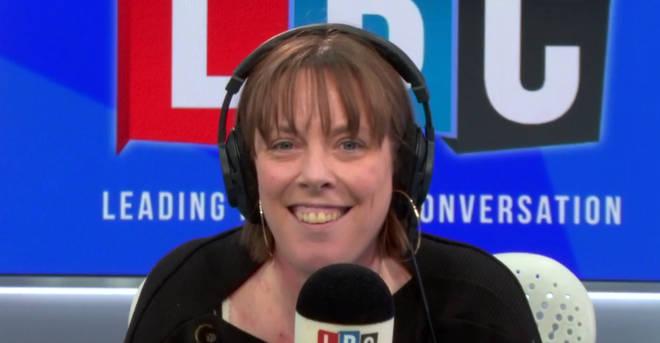 Jess Phillips in the LBC studio