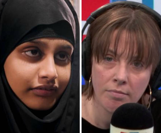 An LBC listener broke down in tears as she defended Shamima Begum