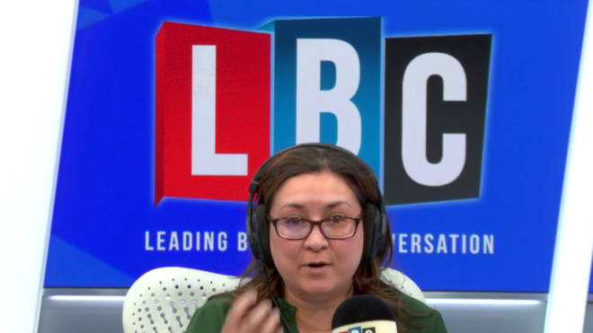 Ayesha Hazarika in the LBC studio