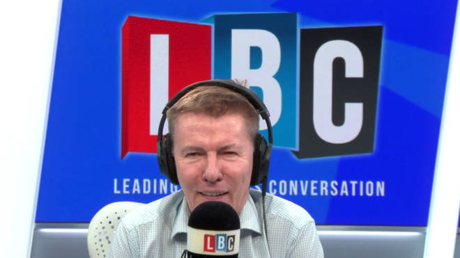 Andrew Pierce in the LBC studio