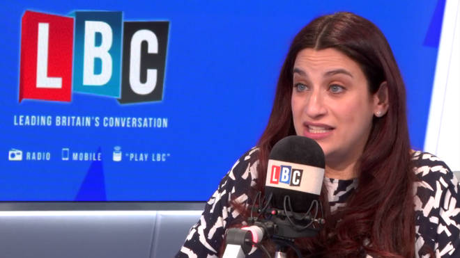 Luciana Berger in the LBC studio
