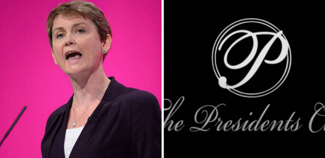 "Yvette Cooper called The Presidents Club ""appaling"""