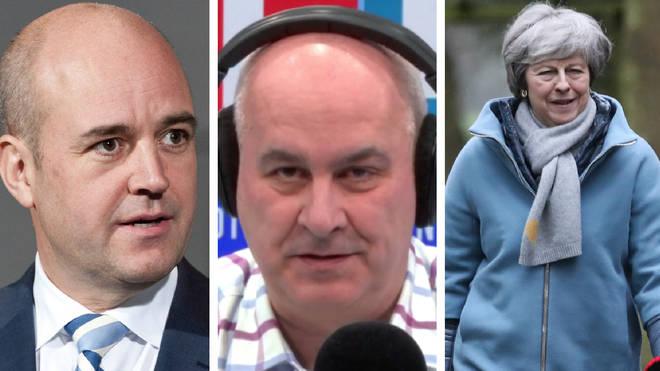 Fredrik Reinfeldt spoke to Iain Dale on Monday night