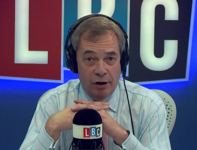Nigel Farage live Monday - Thursday from 7pm on LBC