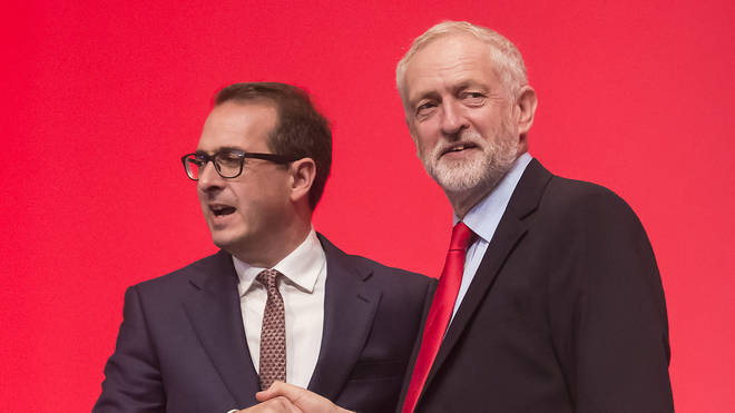 Owen Smith with Labour leader Jeremy Corbyn