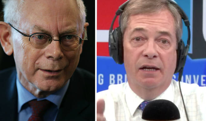 Herman Van Rompuy came under attack from Nigel Farage