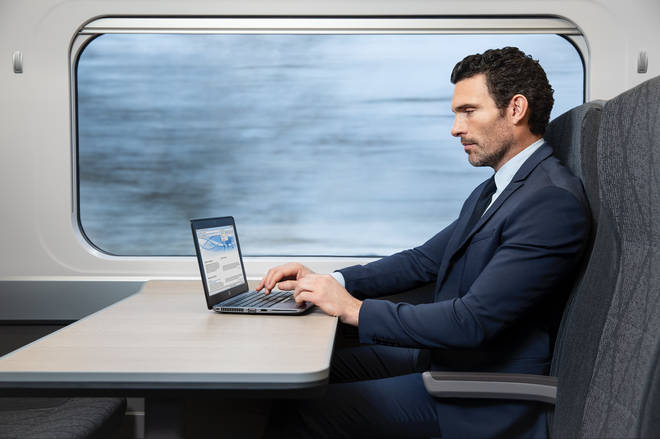 You can get lots of work done on the train