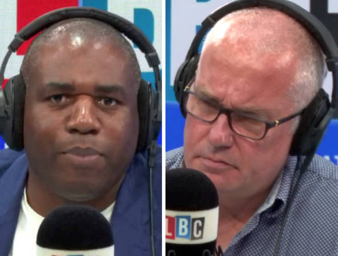 David Lammy attacked Comic Relief in an LBC interview on Thursday