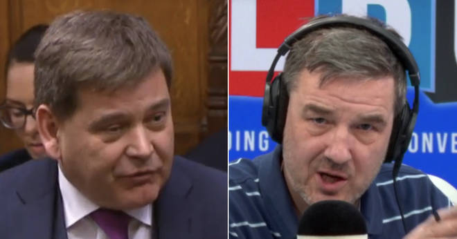 "Andrew Bridgen told Ian Payne that MPs who vote to take no-deal off the table are ""stupid"""