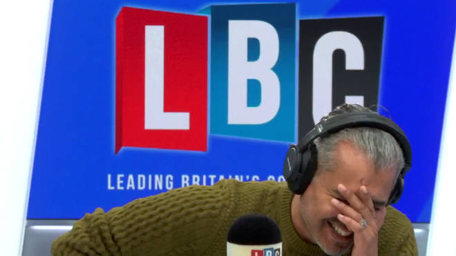 Maajid Nawaz in the LBC studio.
