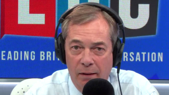 "Nigel Farage hit back after being accused of ""making a career out of moaning"""