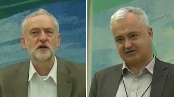 Jeremy Corbyn introduces Andrew Murray, who made controversial comments