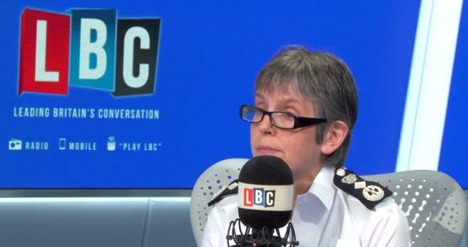 Met Police Commissioner Cressida Dick was live in the LBC studio