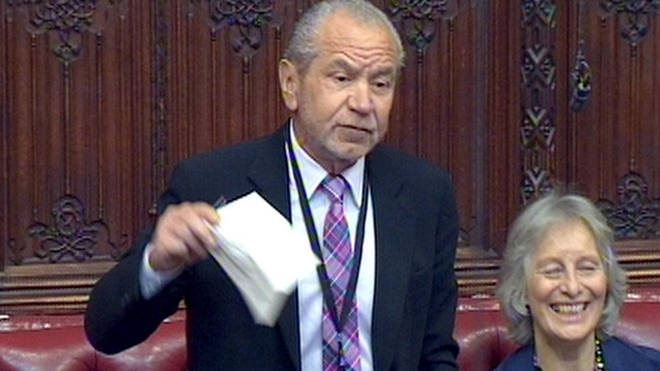 Lord Sugar spoke to LBC on Tuesday