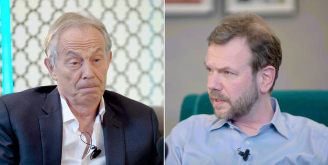 Tony Blair deep in thought on James O'Brien's podcast