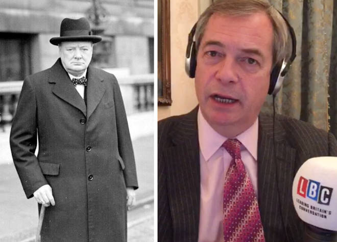 Winston Churchill Nigel Farage