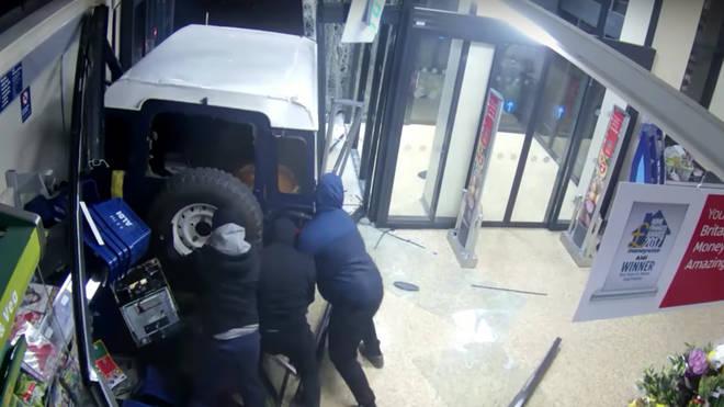 Ram raiders target Aldi supermarket in Cambridgeshire
