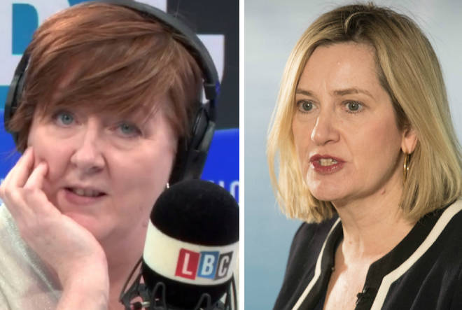 "Shelagh Fogarty was left ""stunned"" by Amber Rudd&squot;s ""coloured"" remarks"