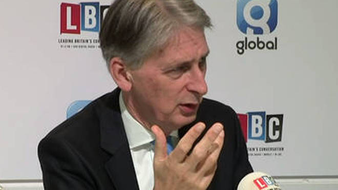 Philip Hammond spoke to LBC on Thursday morning